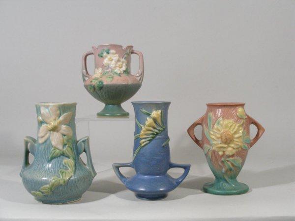 1005: Roseville Pottery Four Vases,