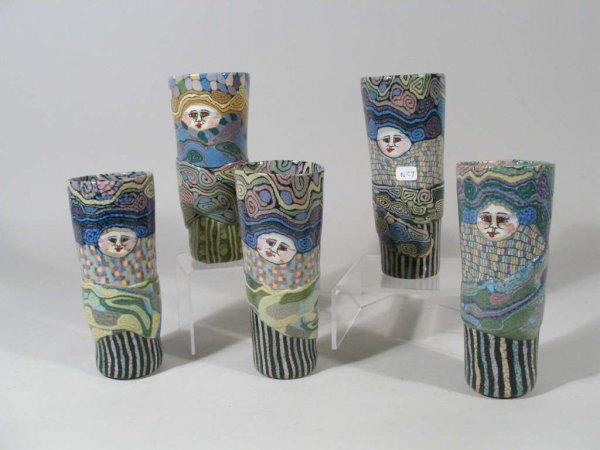 1015: Contemporary NC Pottery Tumblers, Jane Peiser,