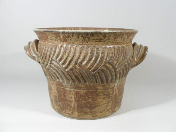 1016: Contemporary NC Pottery Cache Pot, Clyde Gobble,