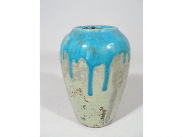 1021: Pewabic Pottery Vase, c. 1910,