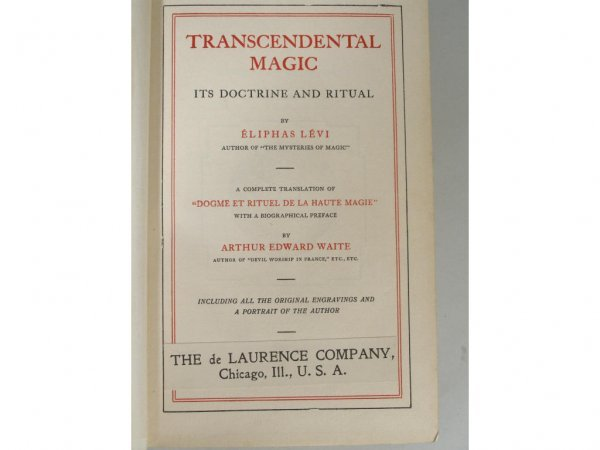 1042: Rare Book, Transcendental Magic by Eliphas Levi, - 2