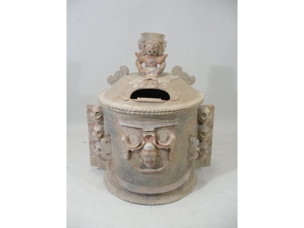 1250: Fanciful Pre-Columbian Style Burial Urn,