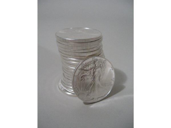 2004: Roll of 20 BU 1987 Silver Eagles