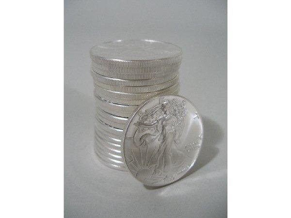 2005: Roll of 20 BU 1987 Silver Eagles