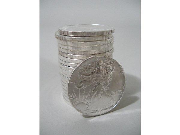 2009: Roll of 20 BU 1987 Silver Eagles