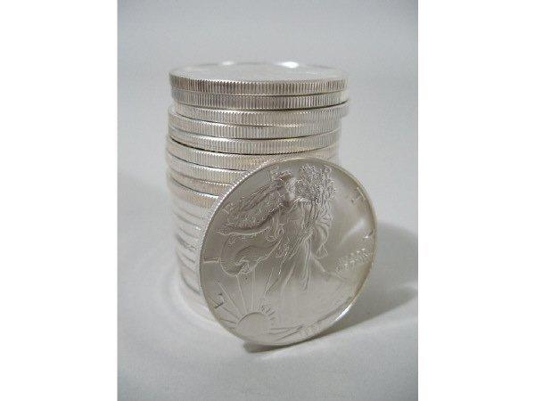 2011: Roll of 20 BU 1987 Silver Eagles