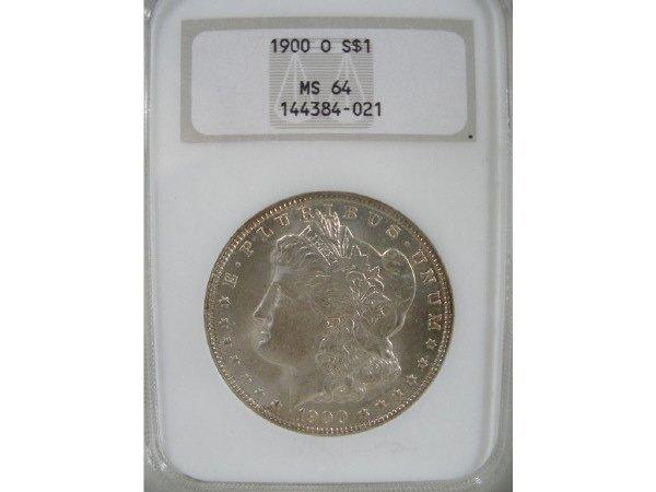 2015: 1900-O Morgan Silver Dollar, NGC MS 64.