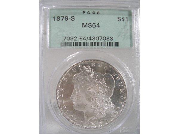 2017: 1879-S Morgan Silver Dollar, PCGS MS 64,