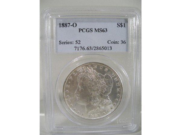 2019: 1887-O Morgan Silver Dollar, PCGS MS 63.