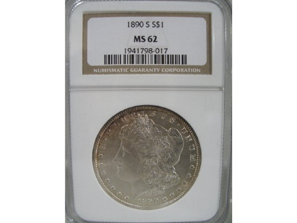 2020: 1890-S Morgan Silver Dollar, NGC MS 62.