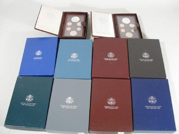 2057: Ten U.S. Mint Prestige Sets,
