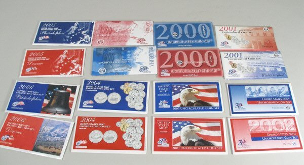 2162: 1999-2006 P & D Mint Sets With State Quarters,