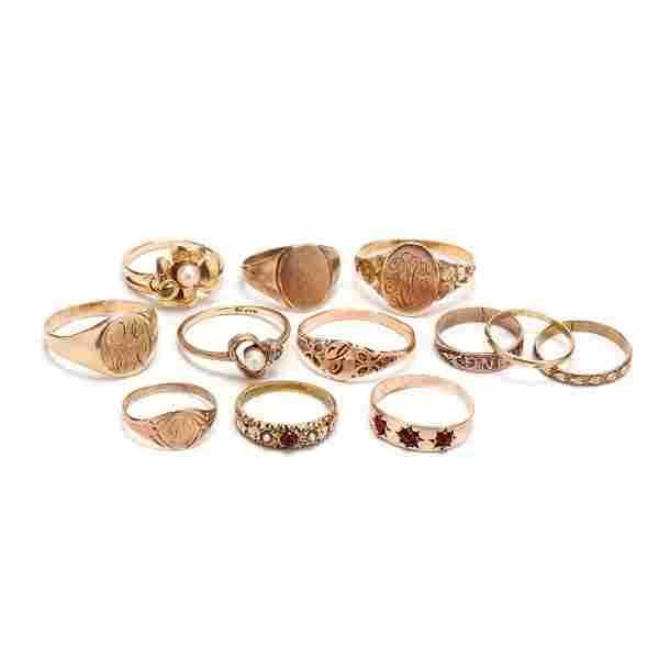 Collection of Gold Rings