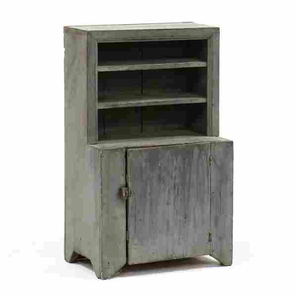 Southern Painted Child's Stepback Cupboard