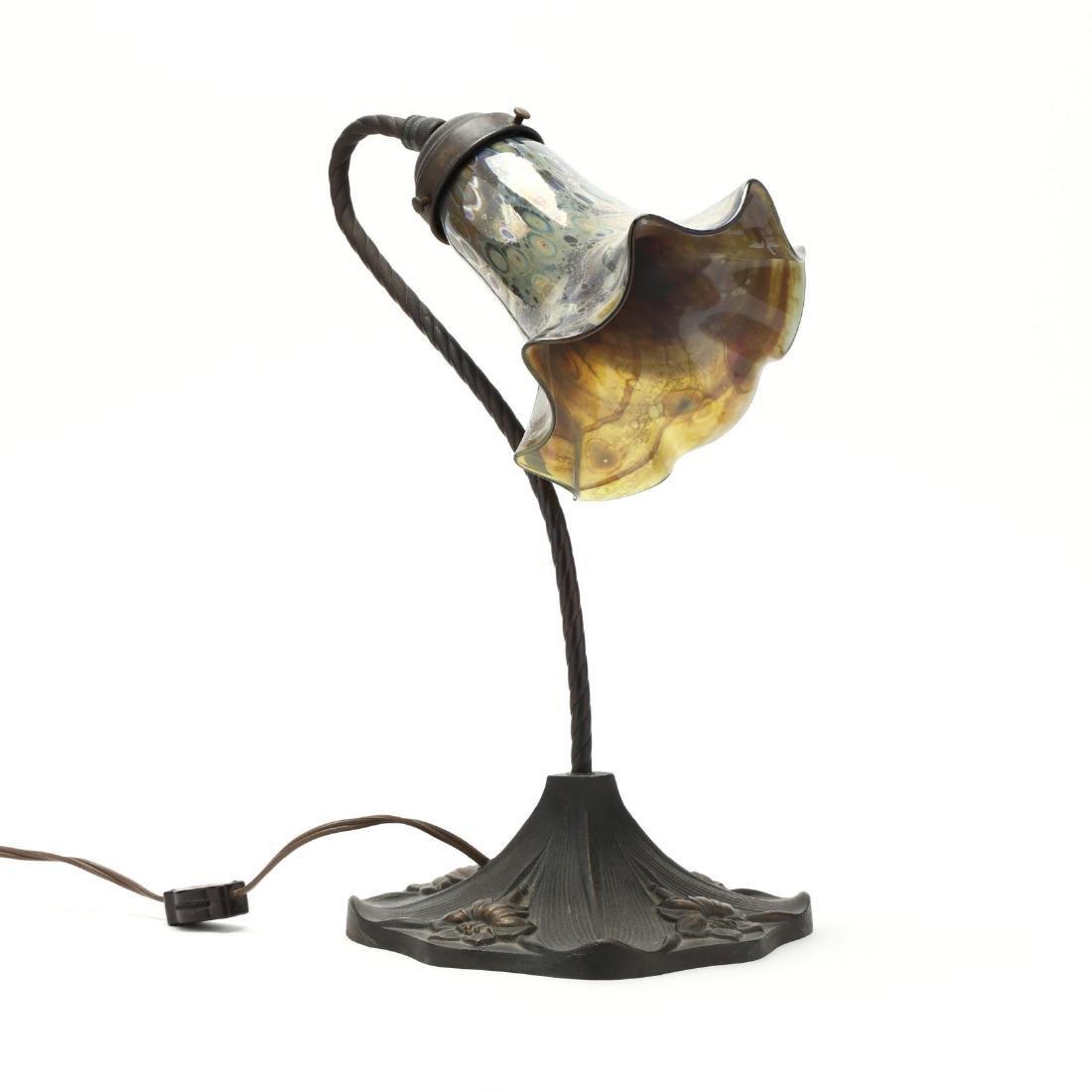Art Nouveau Style Bronze Table Lamp