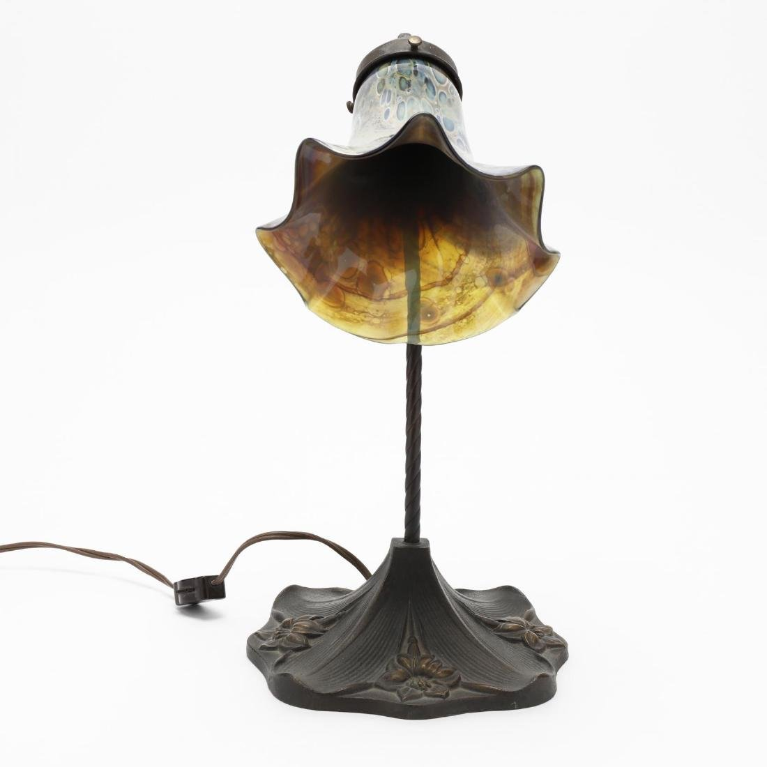 Art Nouveau Style Bronze Table Lamp - 2
