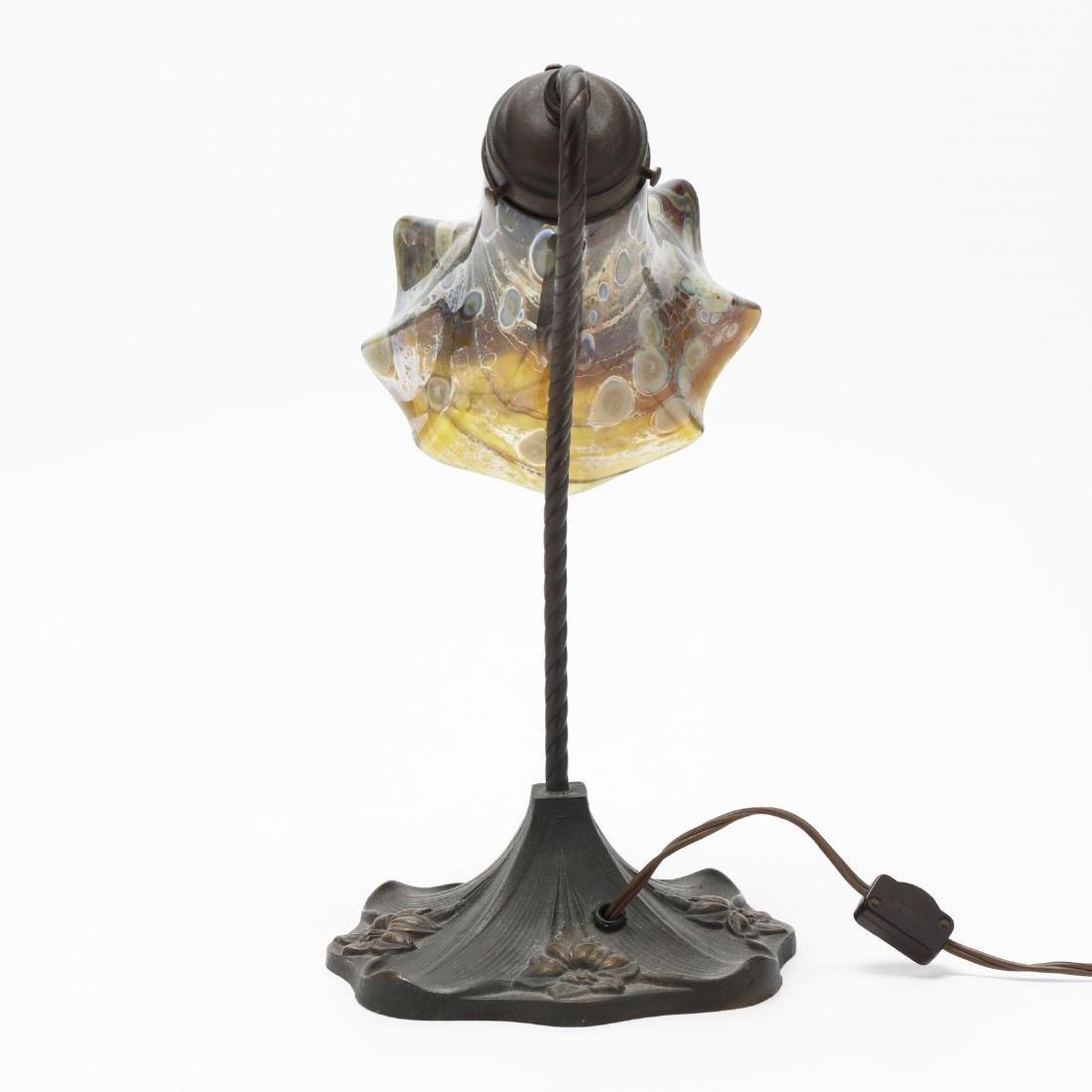 Art Nouveau Style Bronze Table Lamp - 4