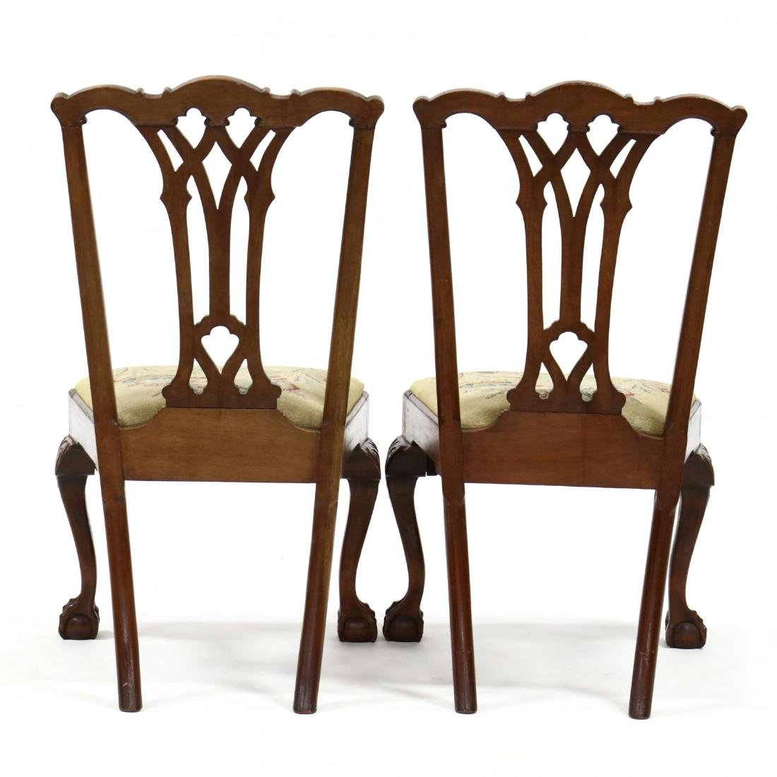 Pair of Chippendale Style Mahogany Side Chairs - 4