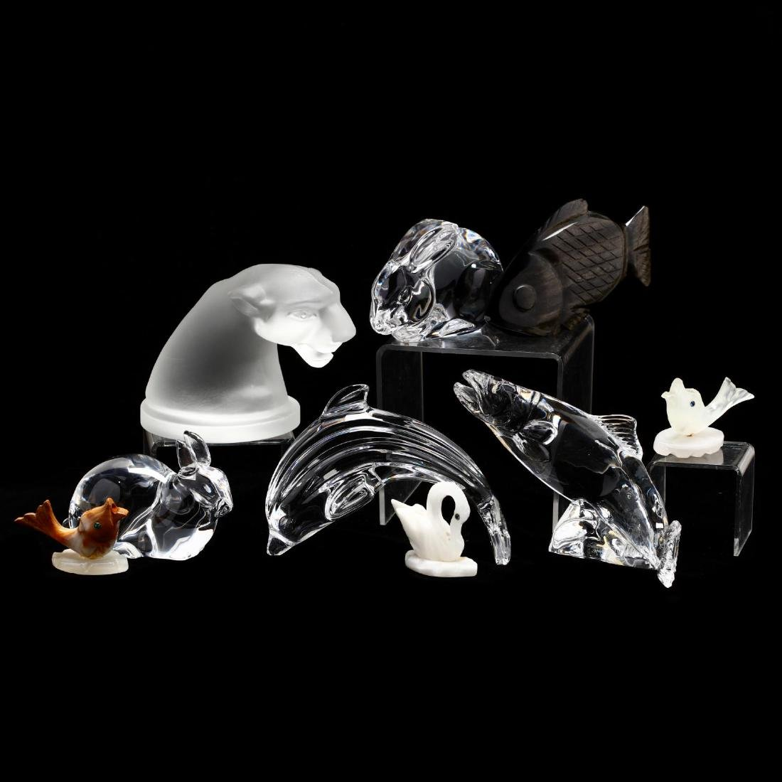 Group of Glass and Specimen Animal Figures