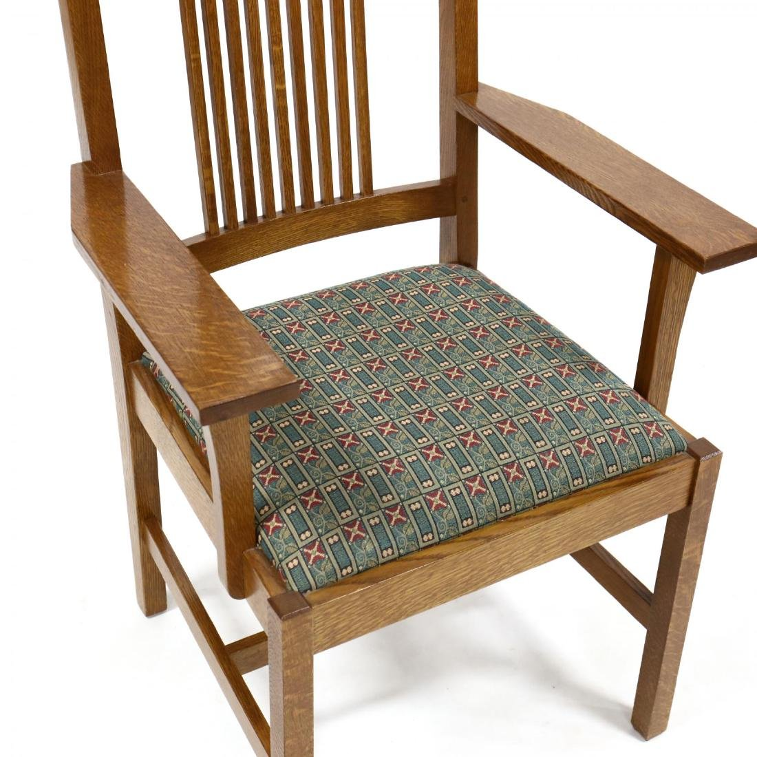Stickley, Set of Six Mission Style Oak Dining Chairs - 3