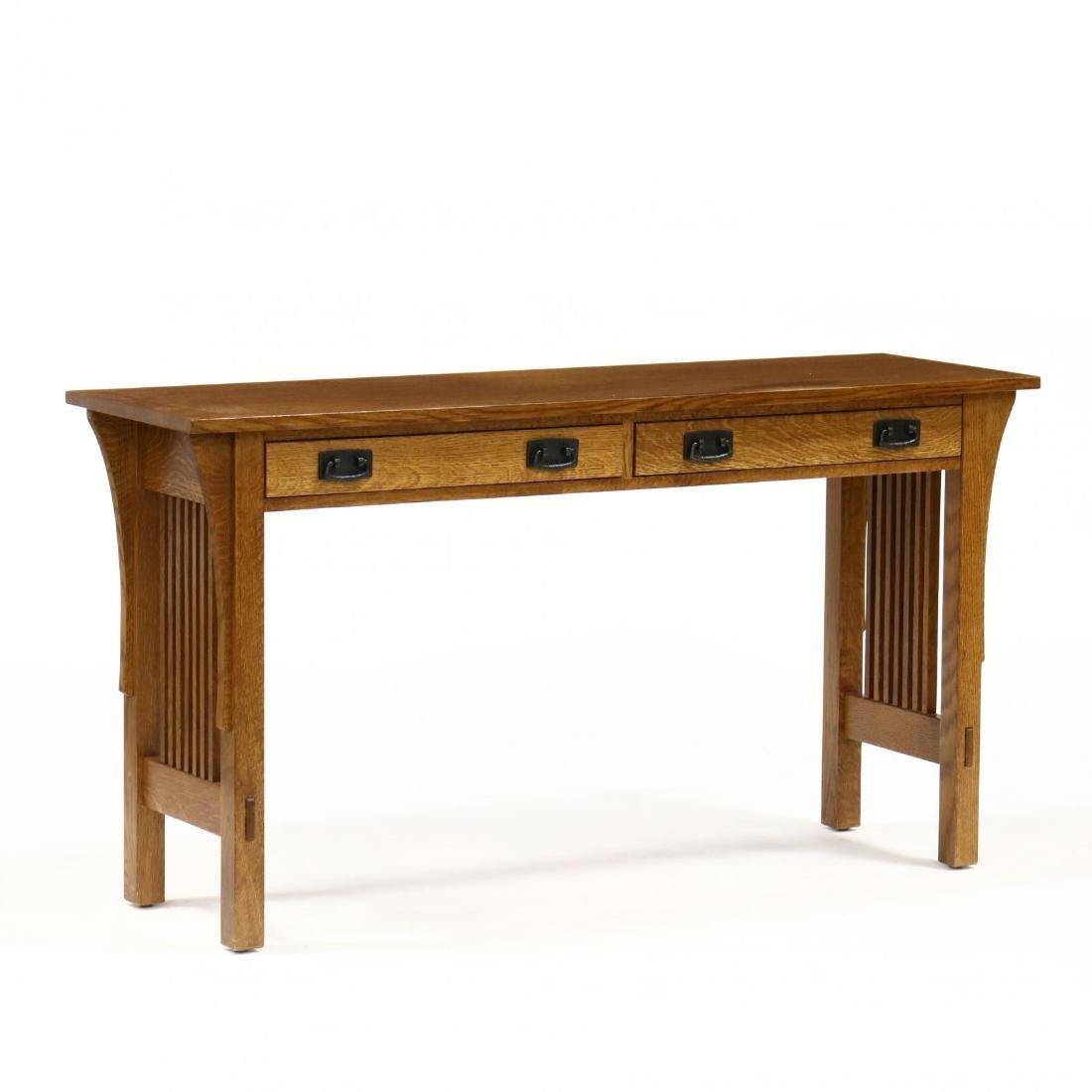 Stickley, Misson Style Oak Console Table