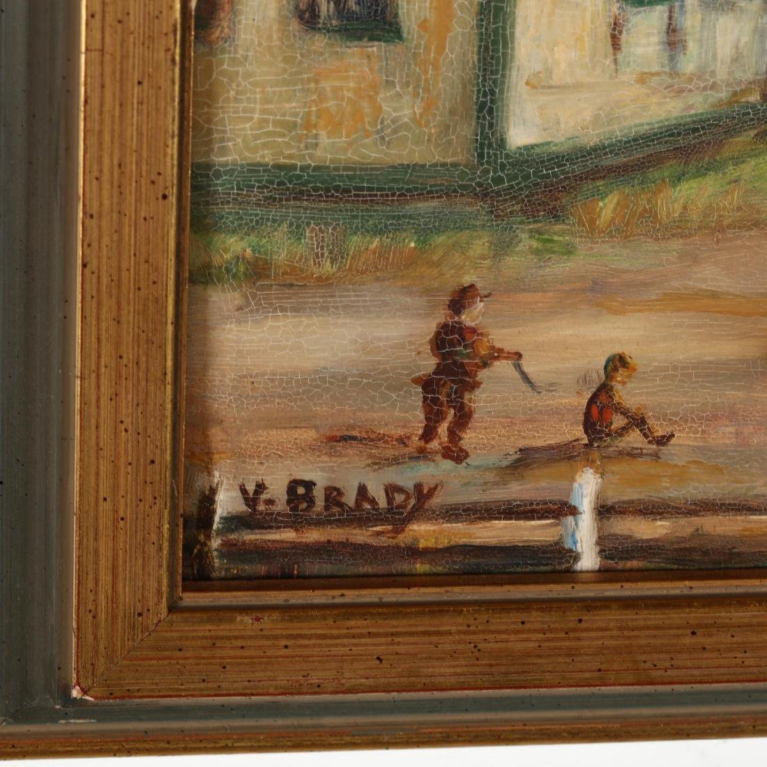 A Vintage Painting of a Schoolyard - 2