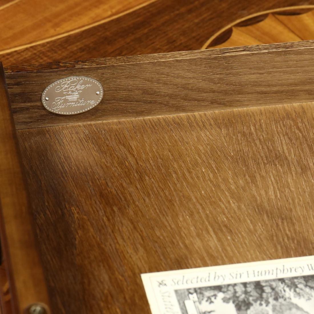 Baker, Hepplewhite Style Inlaid Dropleaf Side Table - 4