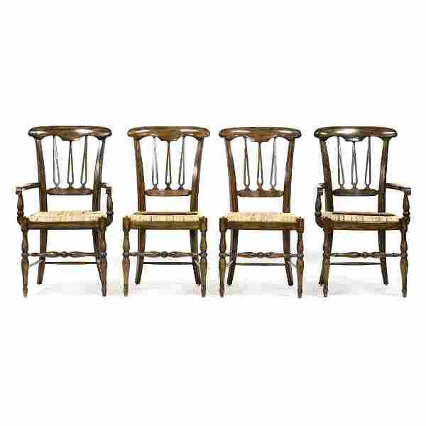 Maitland Smith, Set of Four Regency Style Dining Chairs