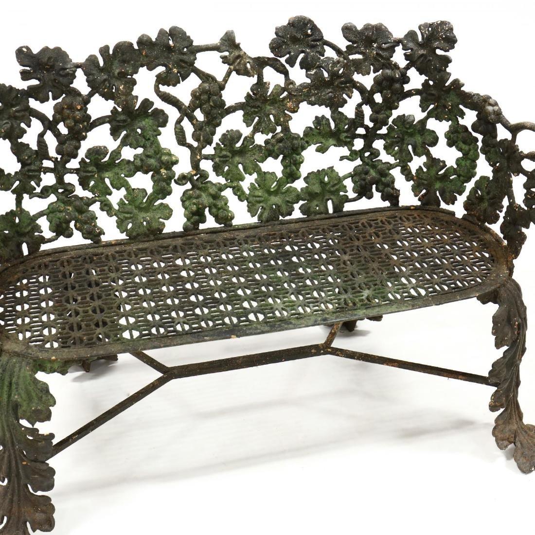 Victorian Cast Iron Garden Bench - 2