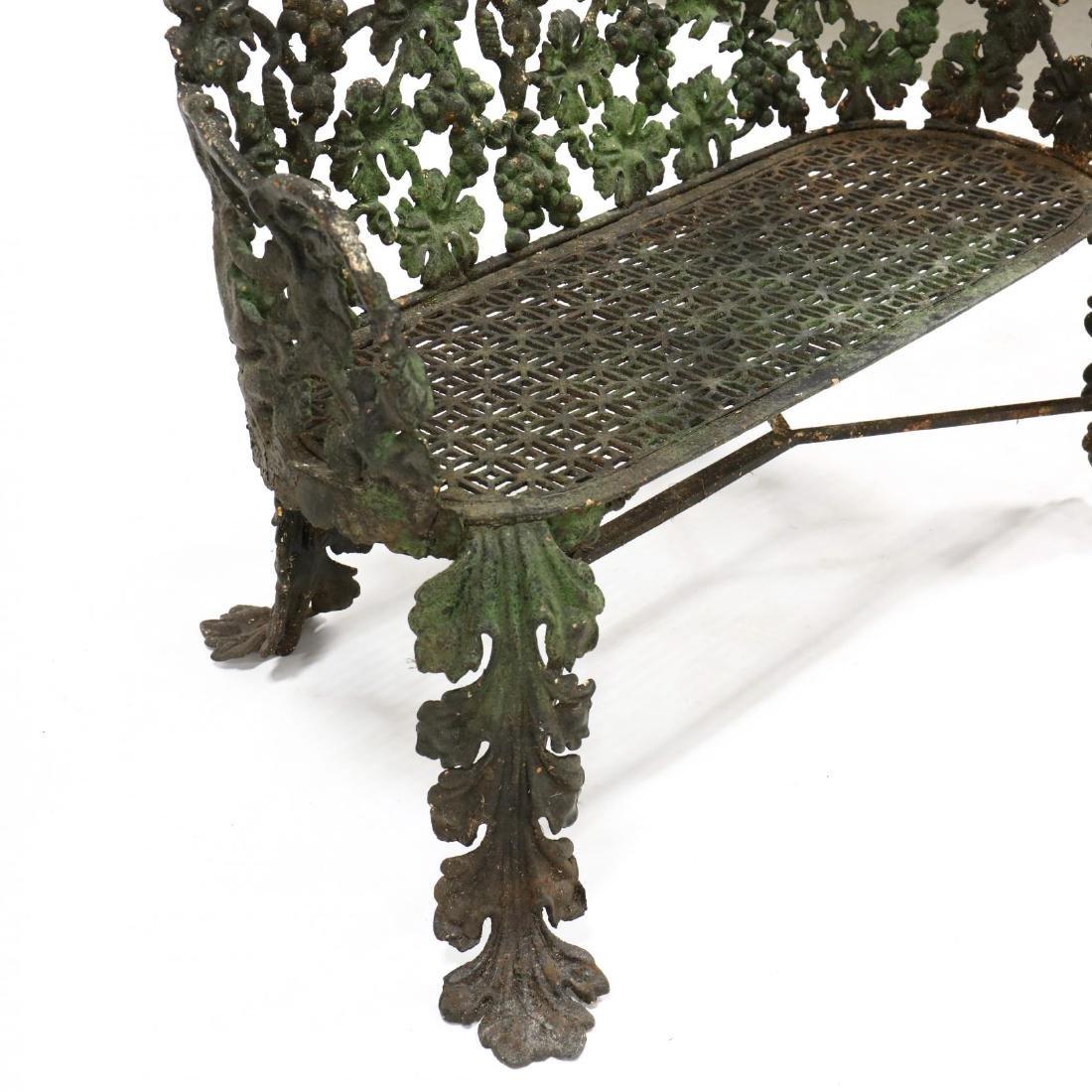 Victorian Cast Iron Garden Bench - 3