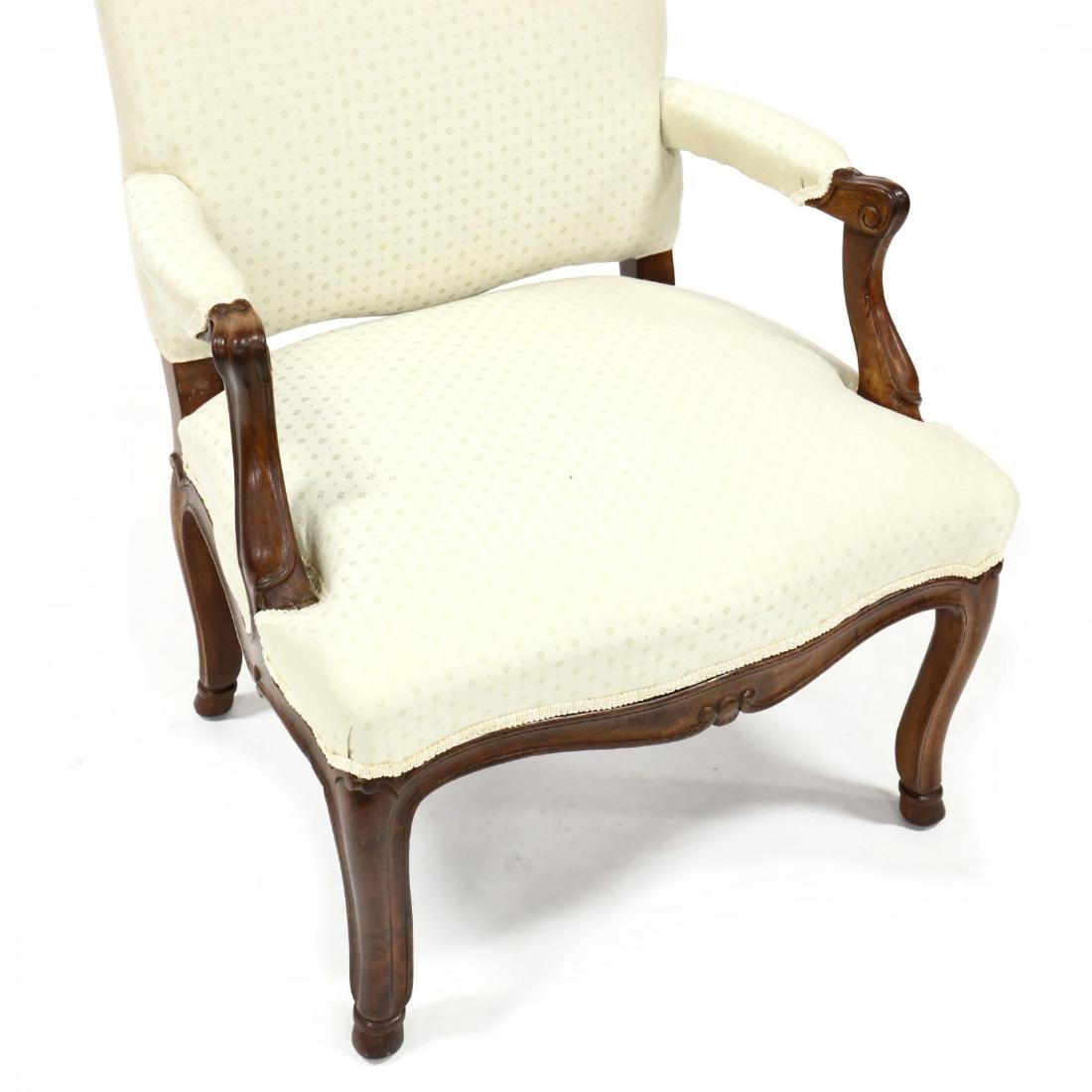 Louis XV Style Upholstered Armchair - 2
