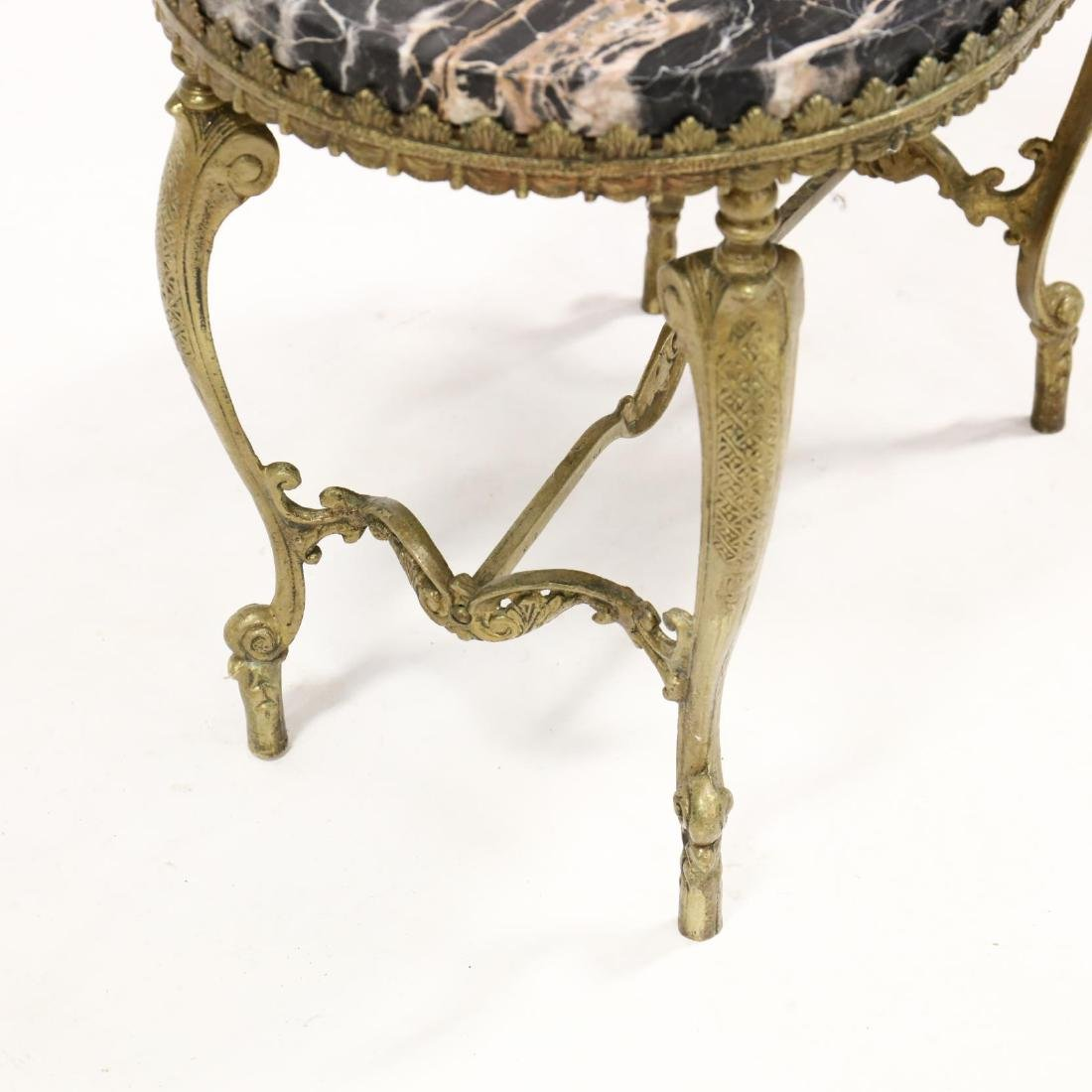 Vintage Italian Marble Top and Brass Low Table - 3