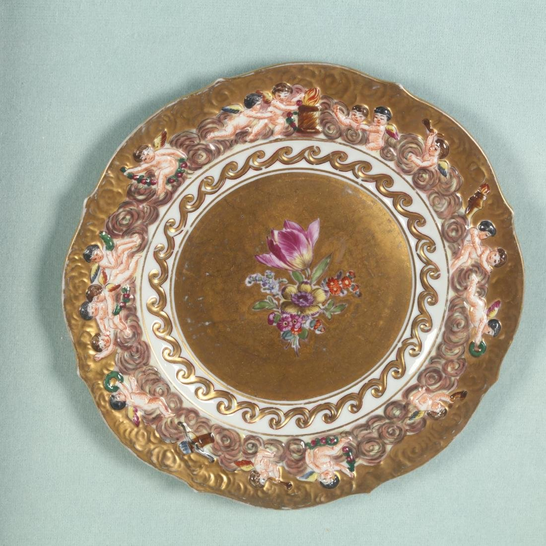 A Pair of Framed Capodimonte Plates - 3