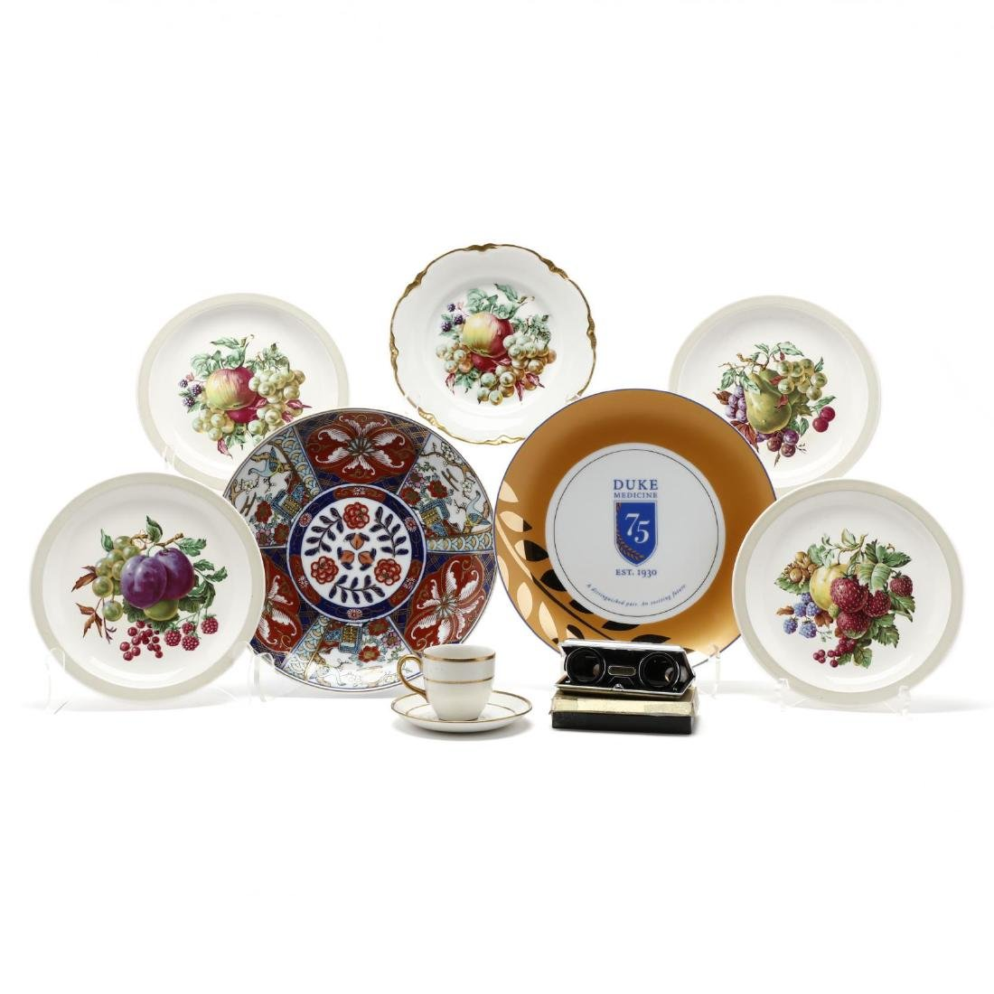 Assorted Vintage Porcelain and Opera Glasses