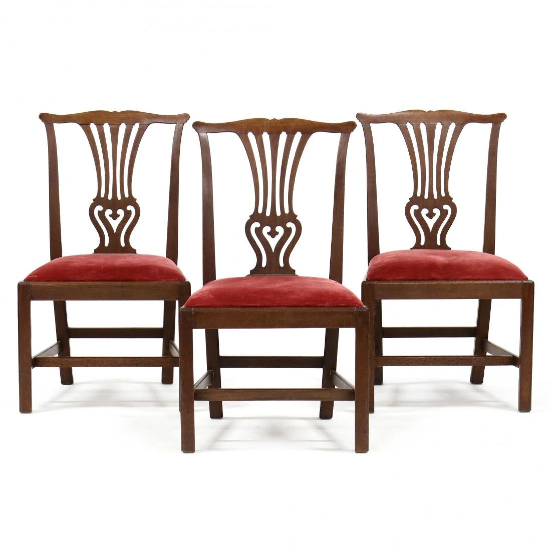 Set of Three Mahogany Chippendale Chairs
