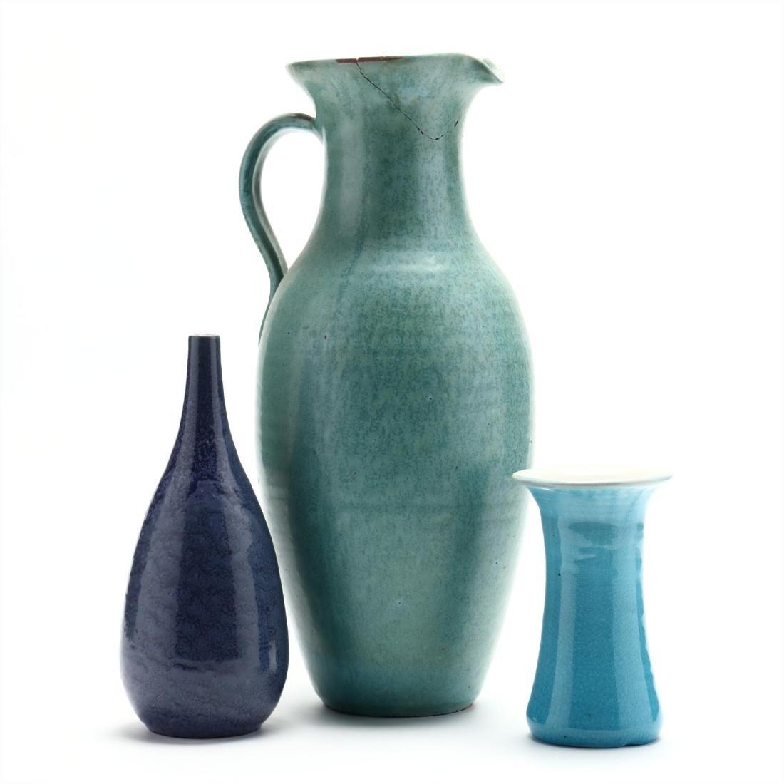 Three NC Pottery Items