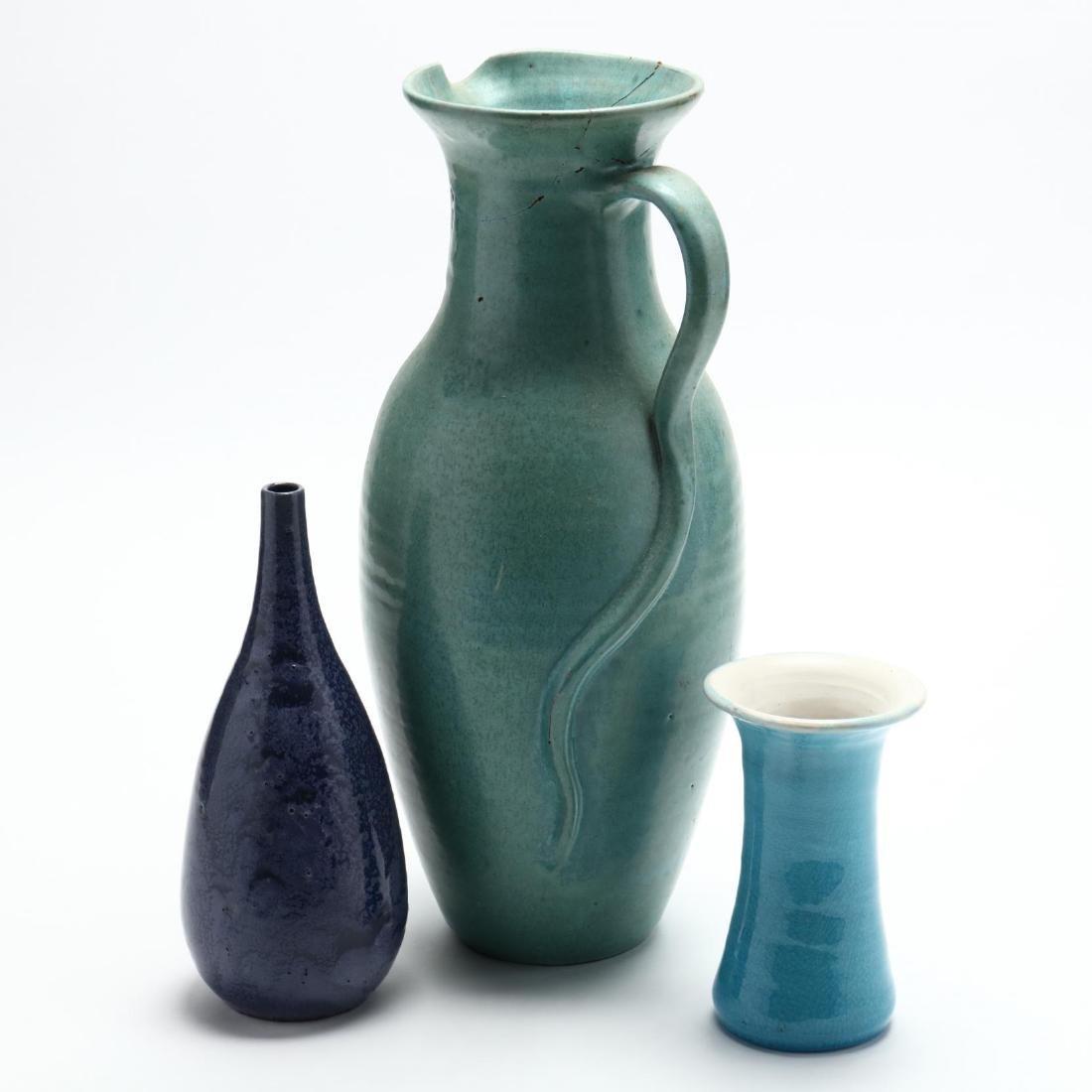 Three NC Pottery Items - 3