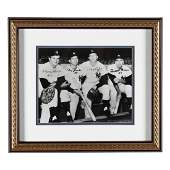 Autographed 1961 New York Yankees Infield Photograph