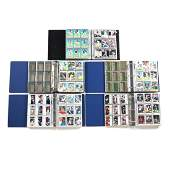 Five Baseball Card Albums 1976 1980 1988 1990 and