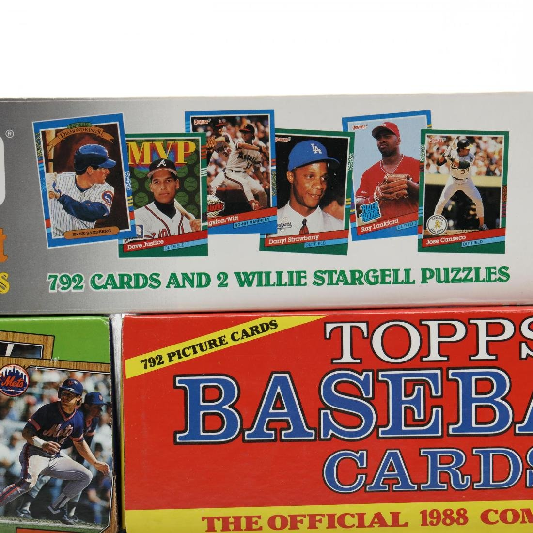 Five 1980-90s Boxed Baseball Cards by Topps, Donruss - 2