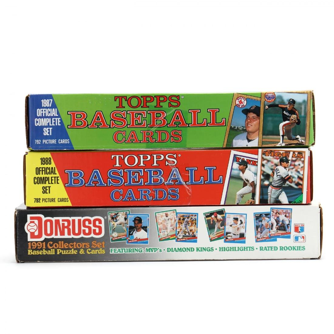 Five 1980-90s Boxed Baseball Cards by Topps, Donruss - 4