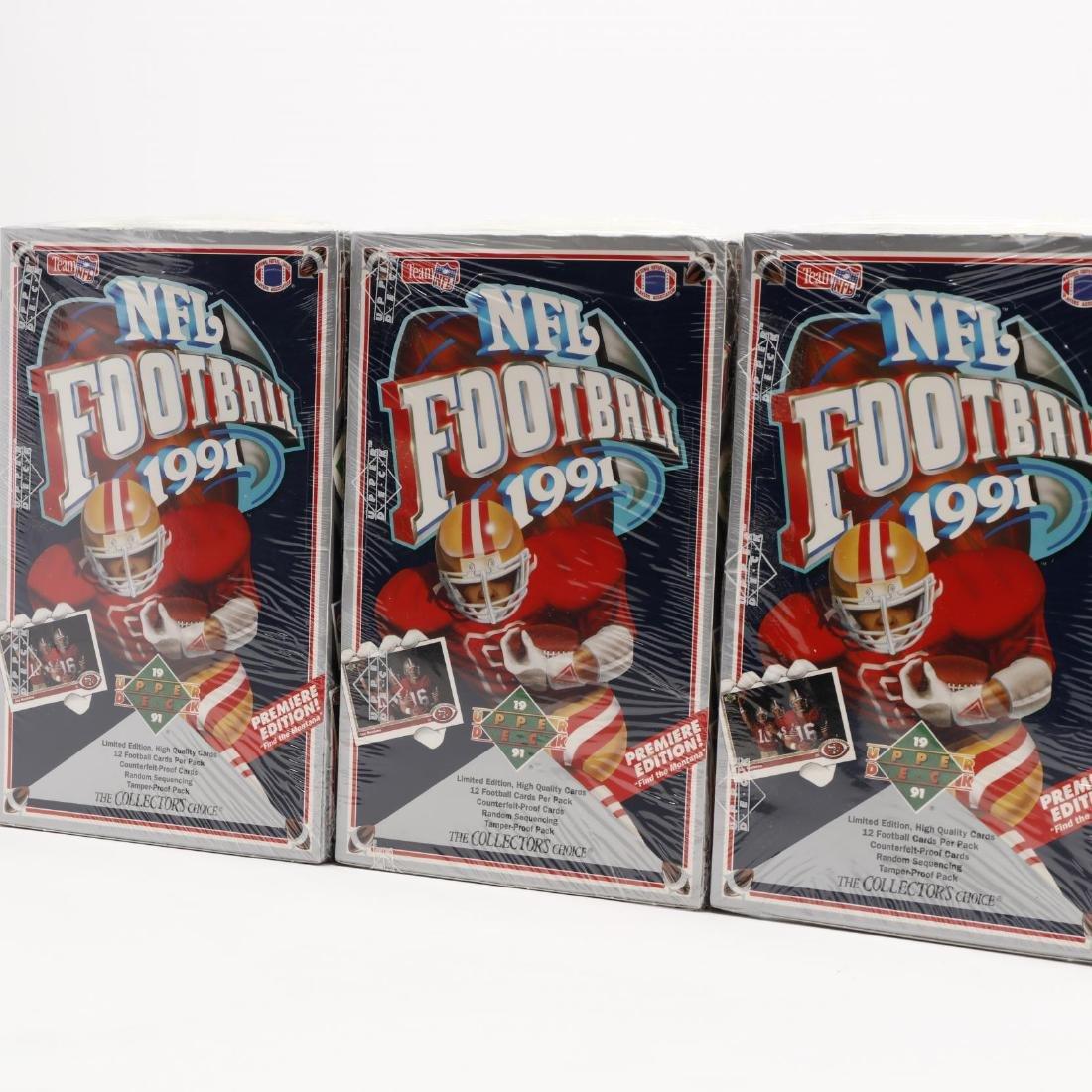 Twelve Upper Deck 1991 NFL Collector's Choice Sealed - 4
