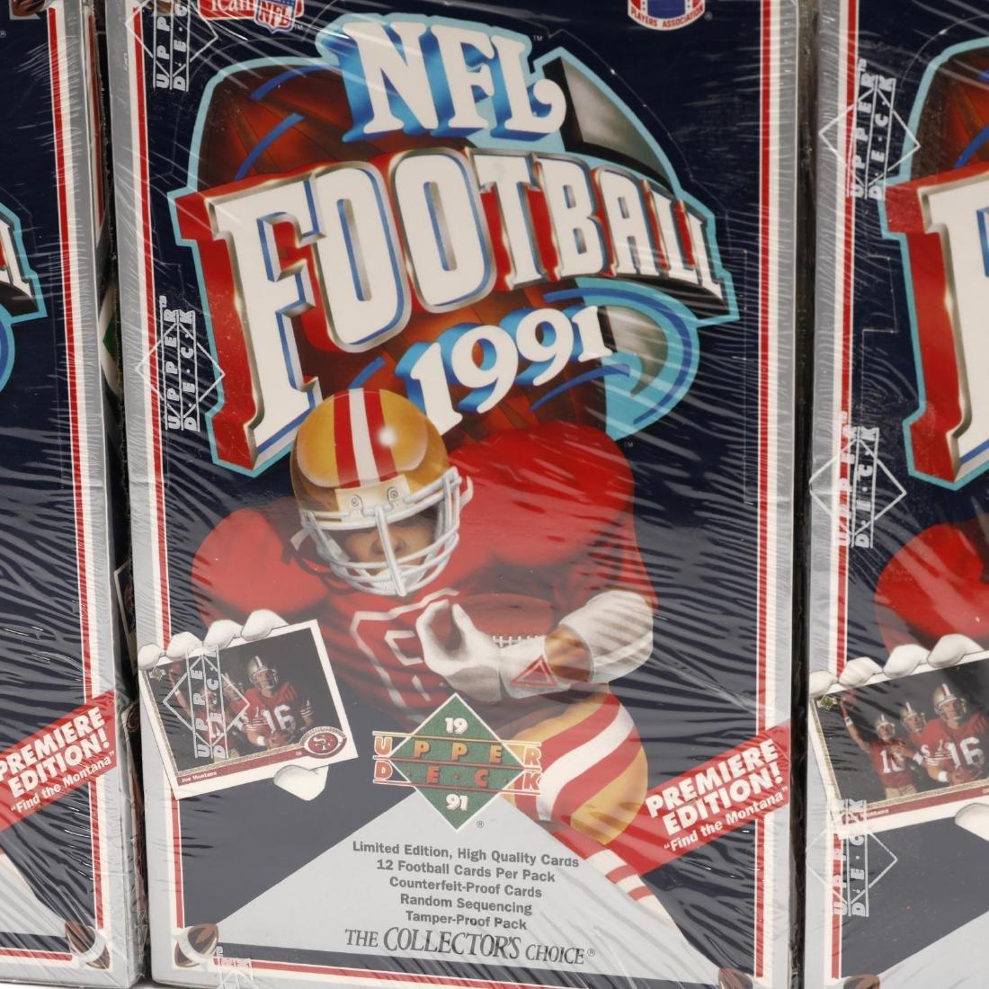 Twelve Upper Deck 1991 NFL Collector's Choice Sealed - 5