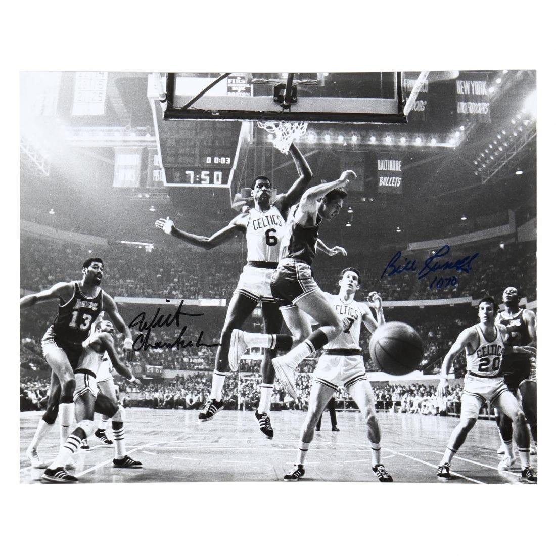 Bill Russell and Wilt Chamberlin Signed Photograph