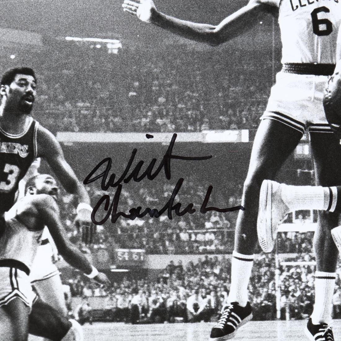 Bill Russell and Wilt Chamberlin Signed Photograph - 2