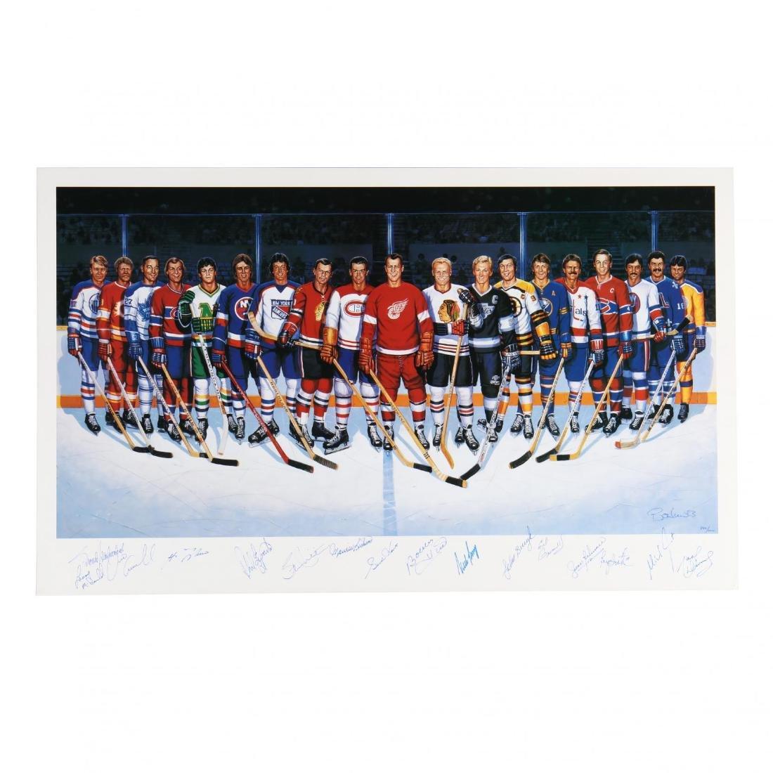 500 Goal Scorers Autographaped Hockey Poster