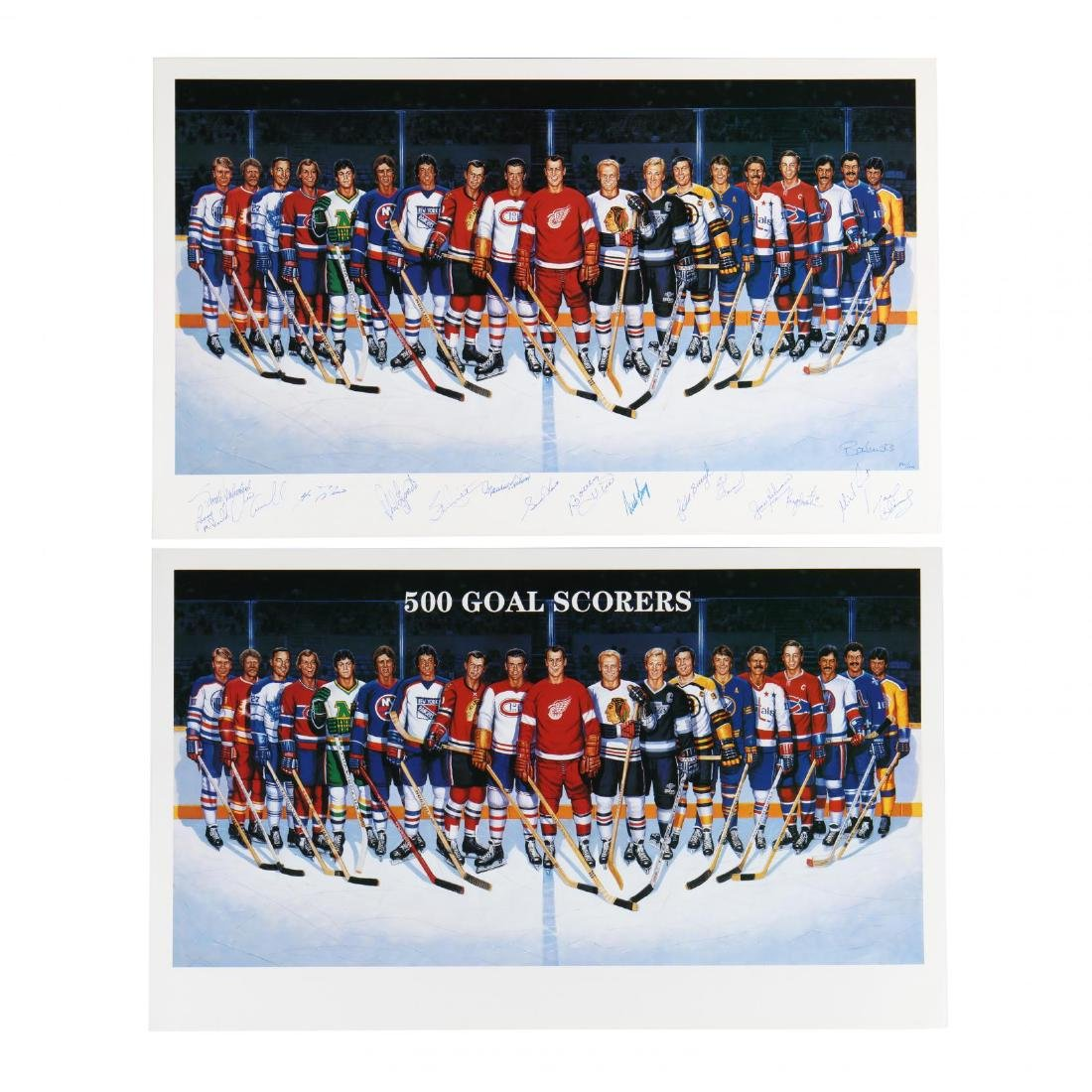 500 Goal Scorers Autographaped Hockey Poster - 2