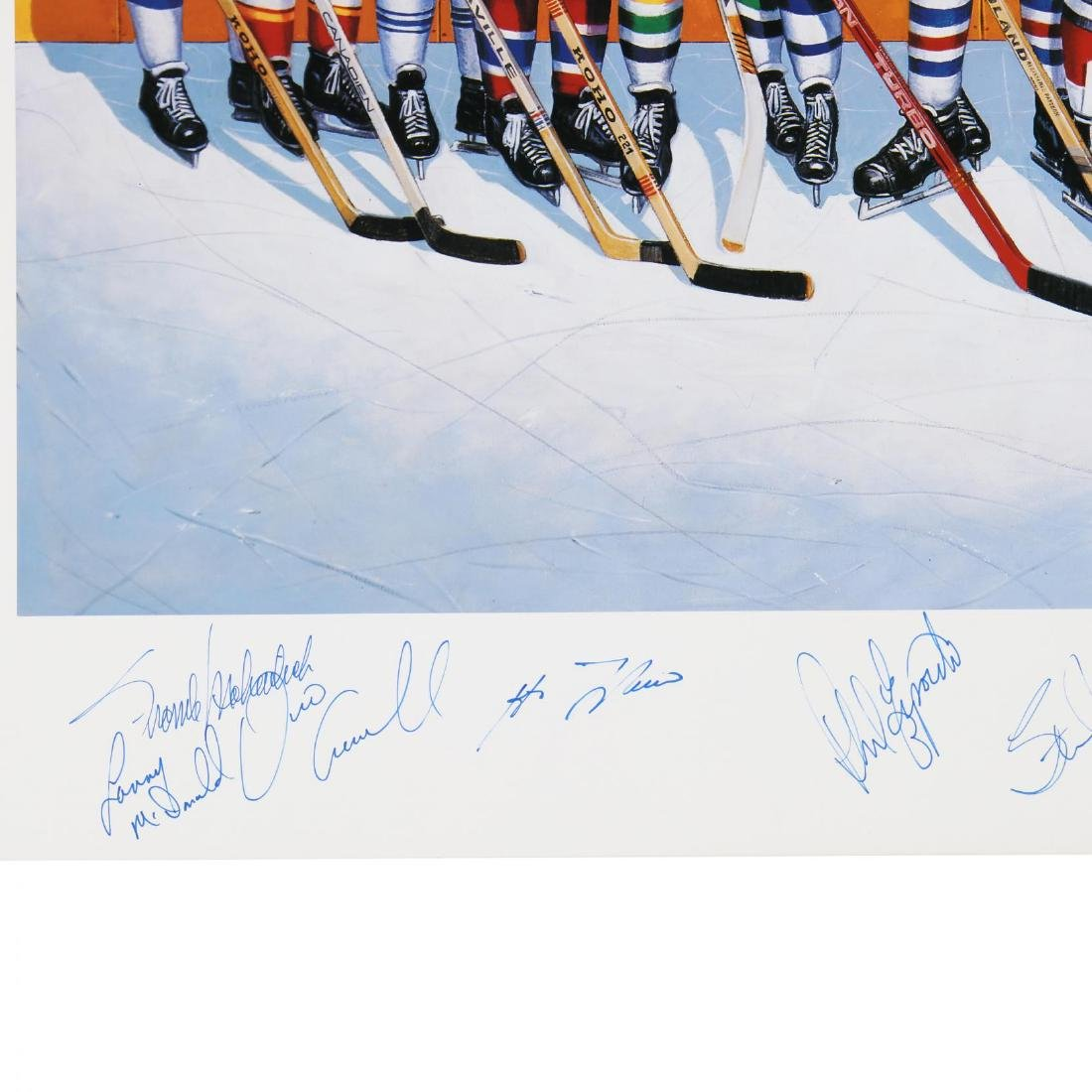 500 Goal Scorers Autographaped Hockey Poster - 3