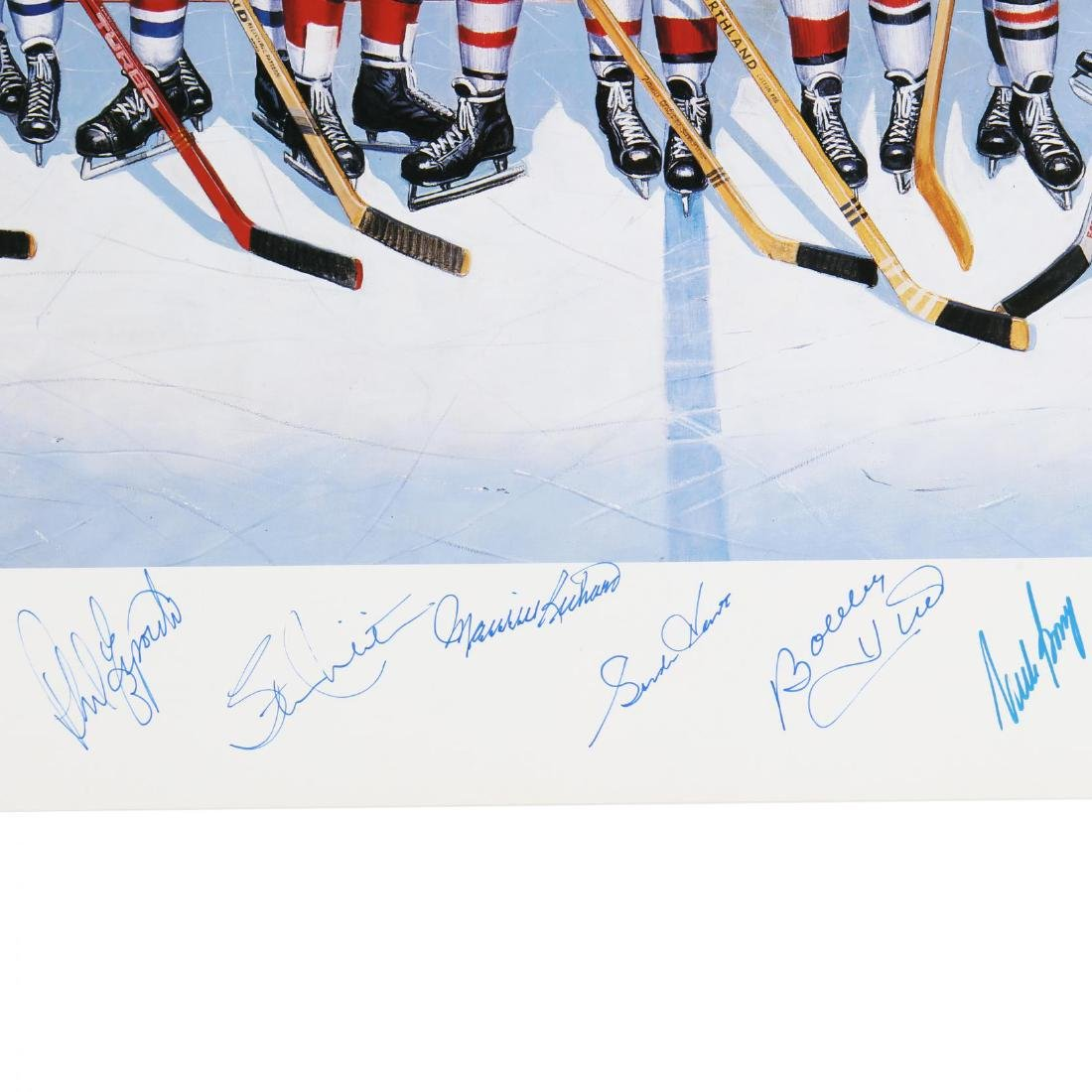 500 Goal Scorers Autographaped Hockey Poster - 4
