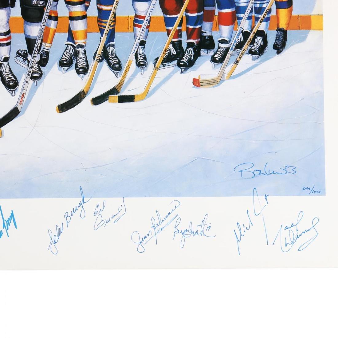 500 Goal Scorers Autographaped Hockey Poster - 5